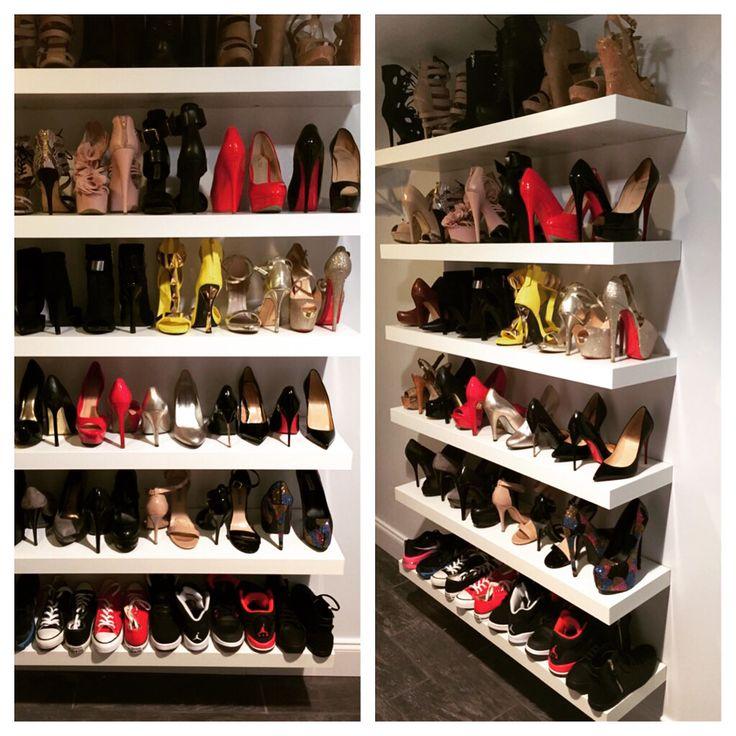 Shoe Shelf I Made For My Walk In Closet Using Ikea Lack