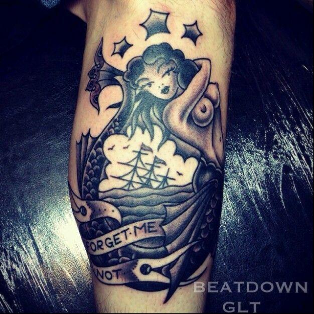 42 best nautical mermaid tattoos images on pinterest for Mermaid tattoos pinterest