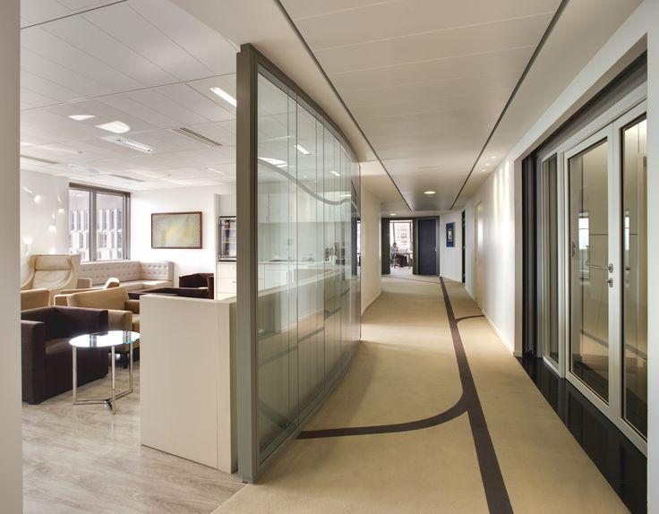 Hallway decoration architectured by cléram style design bureau architecture aménagement workspace coolworking interior deco cléram art office