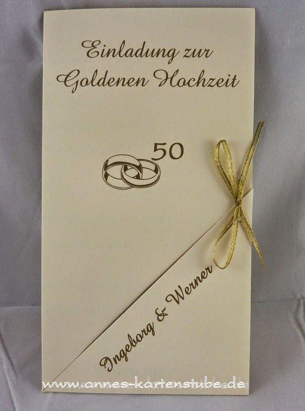 Annes Kartenstube: Einladungen Zur Goldenen Hochzeit