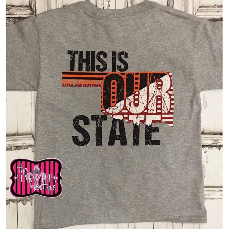 50% off Our State Red and Orange Tee Size 6/8-14/16