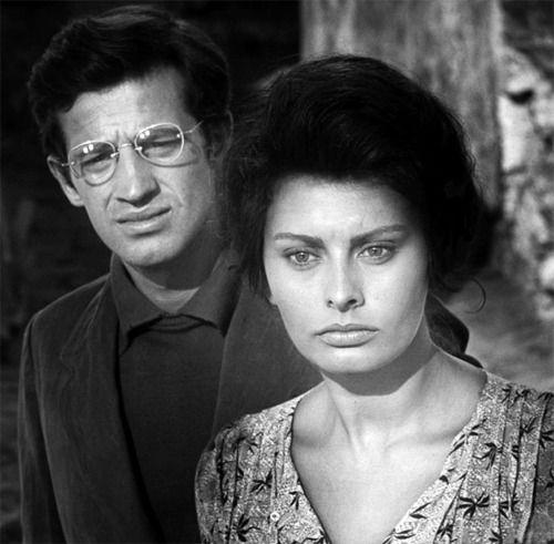• Sophia Loren and Jean Paul Belmondo in La Ciociara