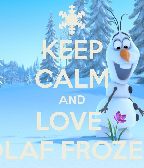 Manten la Calma y ama a Olaf⛄️