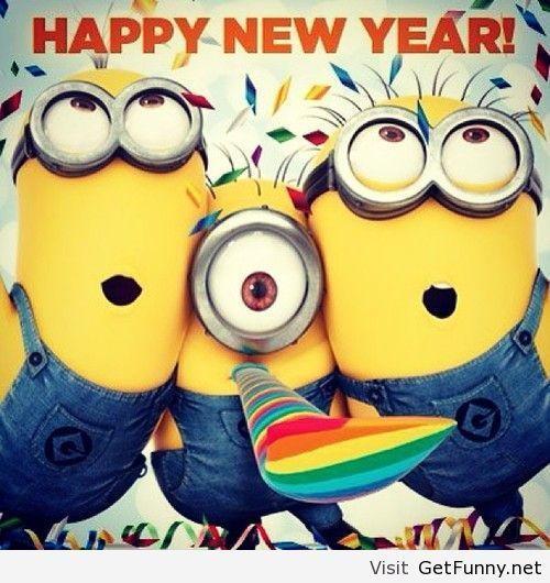 Happy new year minions wallpaper - Funny Pictures, Funny Quotes ...