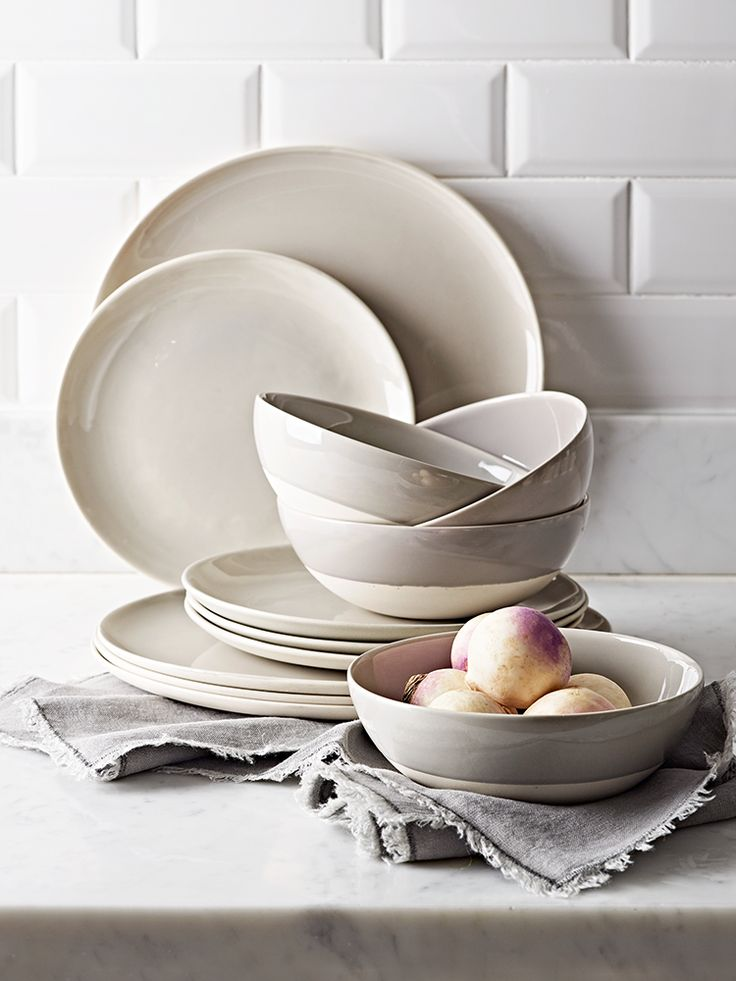 The perfect dinnerware for everyday and occasional dining, our new dip glaze collection has been beautifully crafted in two different colours and includes everything you need to update your dinnerware. Hand made from porcelain clay, each piece in our collection features a rustic textured bisque finish that varies from piece to piece and a polished dip glazed top. The cool grey glaze on each piece contrasts with the textured unglazed base to create an eye-catching look. Whether you're…