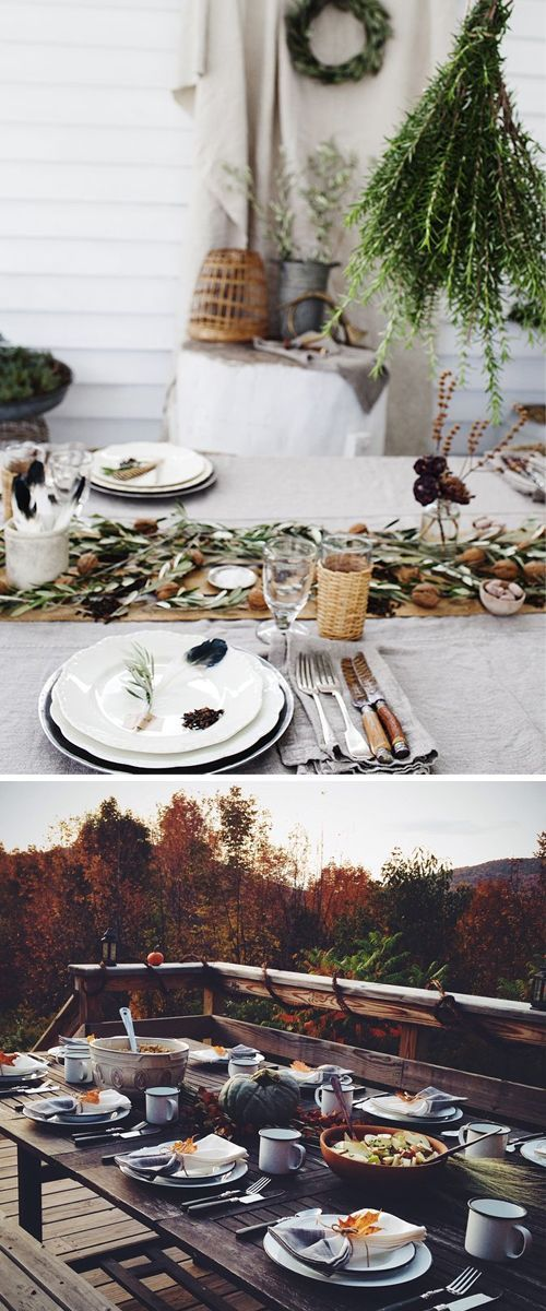 Rustic Thanksgiving table inspiration for your feast this November.
