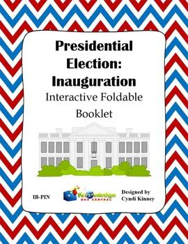 This ebook includes one interactive foldable booklet for the student to create.. The booklet was designed to be used with any curriculum or textbook. Inside this booklet, the student will tell what he has learned about the inauguration, including the date, Oath of Office, Lame Duck, and blank pages for