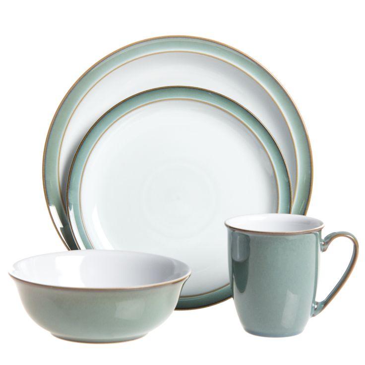 denby regency green ceramic 16piece dinnerware set by denby