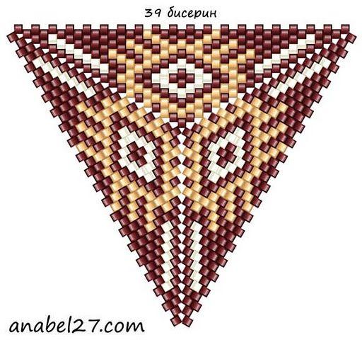Схемы треугольников - мозаичное плетение 4 | -Схемы для бисероплетения-