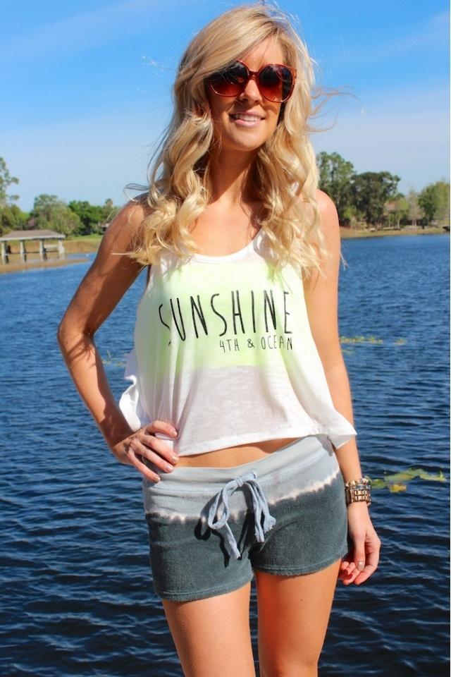 Dip Dye Shorts #sophieandtrey #sunshine #tank #beach #fun #love #4thandocean #summer #sun