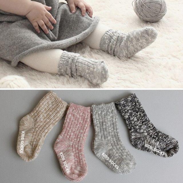 0-24 Maanden Leuke Winter Pasgeboren Baby Kniekousen Katoen Meias Zuigeling Anti Slip Baby Jongens Meisjes Sokken Room Floor Sokken Voor Baby