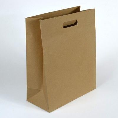 Large 318mm × 394mm + 152mm | Brown Kraft Paper Bag with Handle - Wholesale and Retail | Suppliers of Paper and Plastic Food Service Baking Party Products | Online Sydney NSW Australia