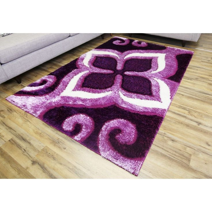 ltd empire gloria purplepink shag rug 2u00277 x 7u00277
