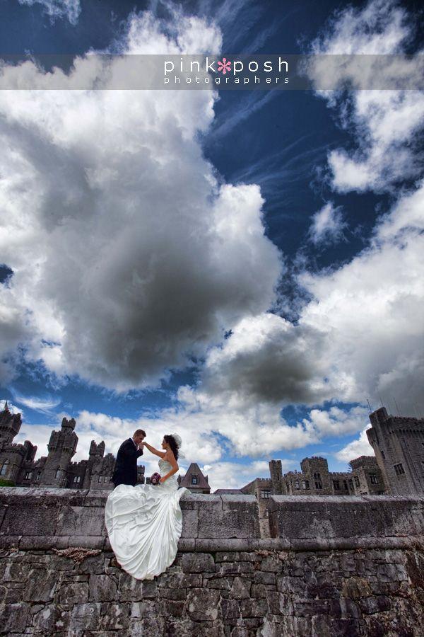 The magical #AshfordCastle is a beautiful backdrop for your #wedding photos... #Ireland #bride