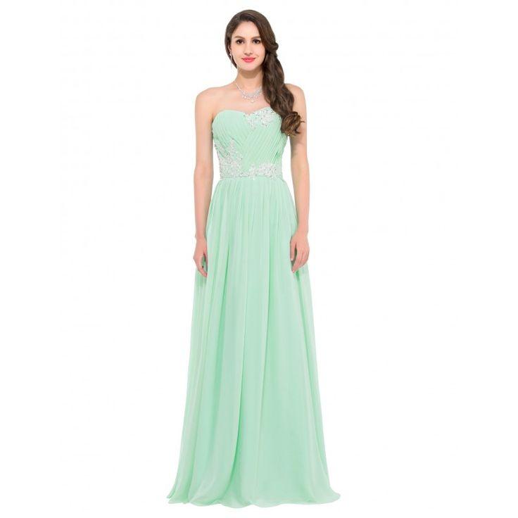 Zelené spoločenské šaty CL6107