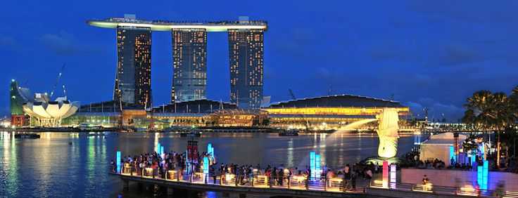 Singapore is one of the most beautiful and cleanest cities/countries in the world.  Great restaurants, incredibly beautiful, friendly and intelligent people.  The picture is of the Marina Bay Sands SkyPark.