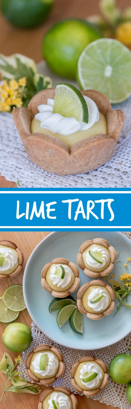 Homemade graham cracker cups filled with sweet, tangy lime curd come together in adorablelittlelime tarts. Simple to serve, these eat-by-hand treats make a perfect party dessert. This recipe can be prepared ahead of time too!