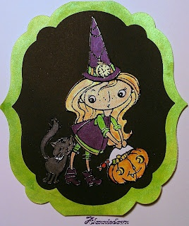 AlannieDawning has done a great job of using Twinkling H2O's to color #Stampendous Kitty Candy #Kiddo: Color Stampend
