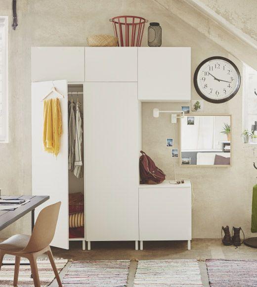 Ikea Platsa 系統櫃 收納 客製化 模組化 櫃子 家具 白色