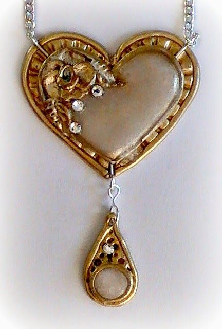 821 best polymer clay tutorials images on pinterest polymer clay make it with me faux metal polymer clay heart pendant tutorial aloadofball Images