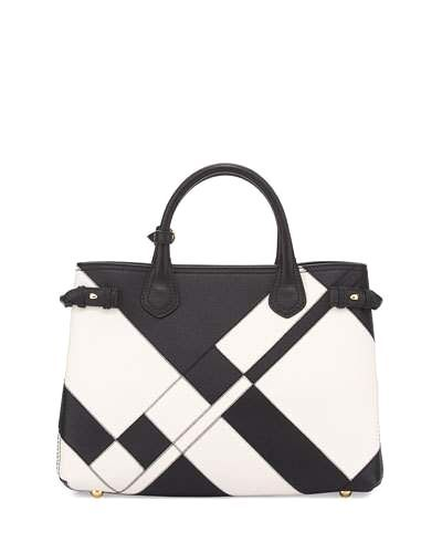 77afcf105725 Burberry Banner Medium Patchwork Leather Tote Bag
