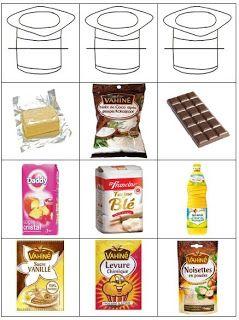 étiquettes recettes