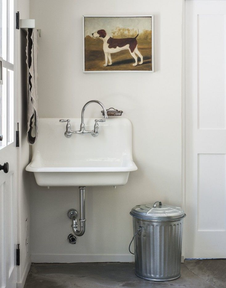 Amanda Pays and Corbin Bernsen laundry room sink | Remodelista