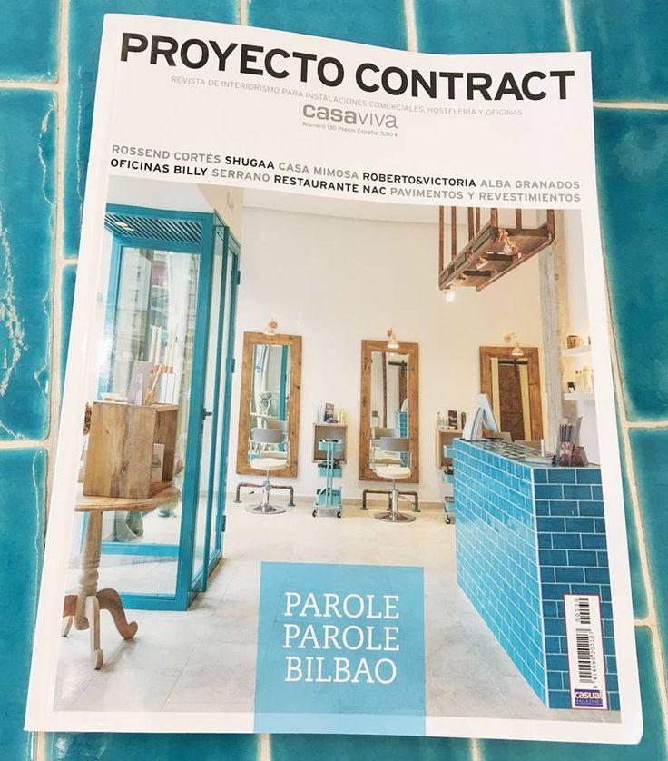 Proyecto de Peluquería PAROLE PAROLE en Bilbao de Natalia Zubizarreta Interiorismo en portada de la revista PROYECTO CONTRACT (Diciembre 2016).
