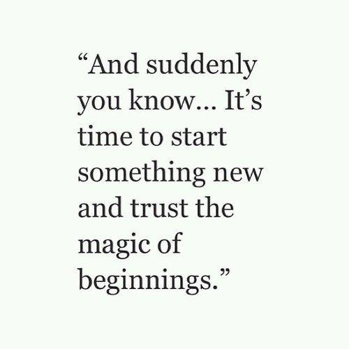 Een nieuwe start!