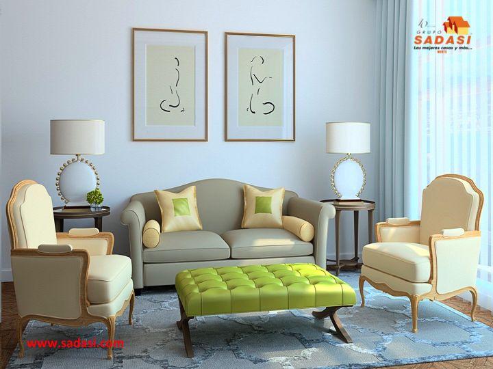 #decoracion LAS MEJORES CASAS DE MÉXICO. En una sala grande, puede disponer de un sofá de gran tamaño, incluso de dos, mesas auxiliares y de centro, librerías etcétera. Mientras que en el caso de un salón pequeño, deberá renunciar a algunos muebles, optando por aquellas cosas que sean realmente imprescindibles. En Grupo Sadasi, le invitamos a conocer los modelos de casa que tenemos en nuestros desarrollos y así elegir, la que más le guste. informes@sadasi.com