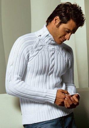 Красивые мужские свитера вязанные