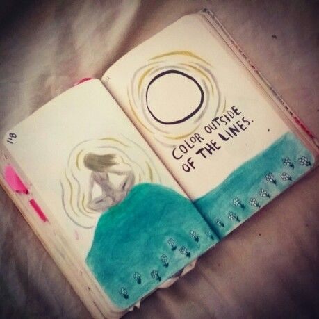 Colour outside the lines.. work in progress.. wreck this journal