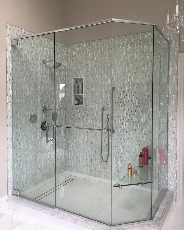 small bathrooms oblong shower enclosures
