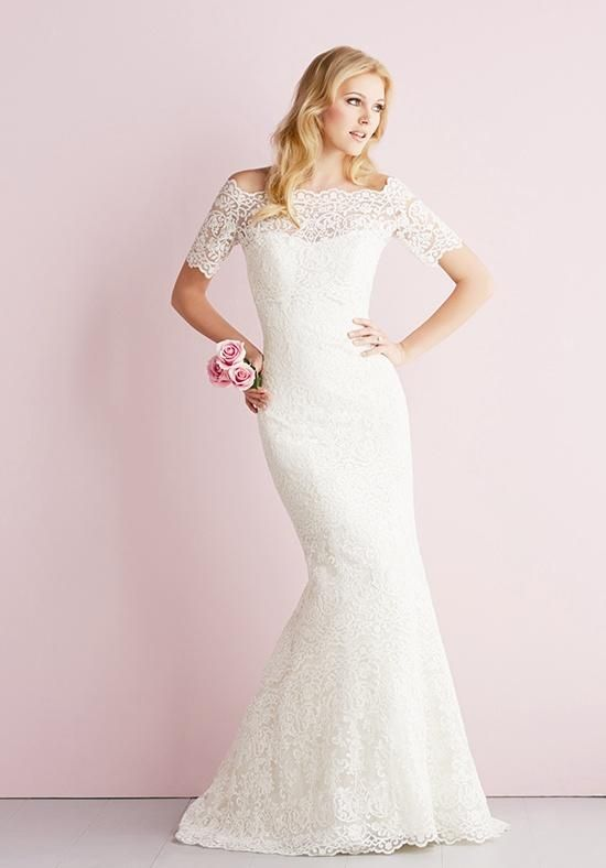 A beautiful lace Allure Romance wedding gown has just arrived at Tulle Bridal! Come in for a special viewing! #tullebridal www.tullebridal.com