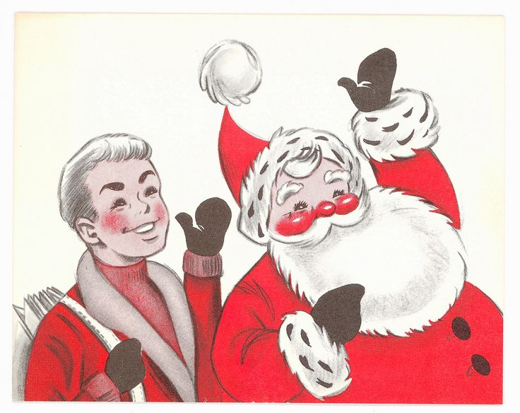 Vintage Newspaper Boy Christmas Card
