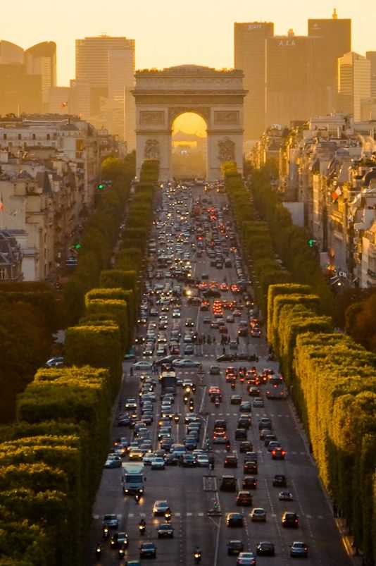Paris sunset, I've watched this from the top of the Arc de triomphe twice. One of the most magical moments you can find anywhere