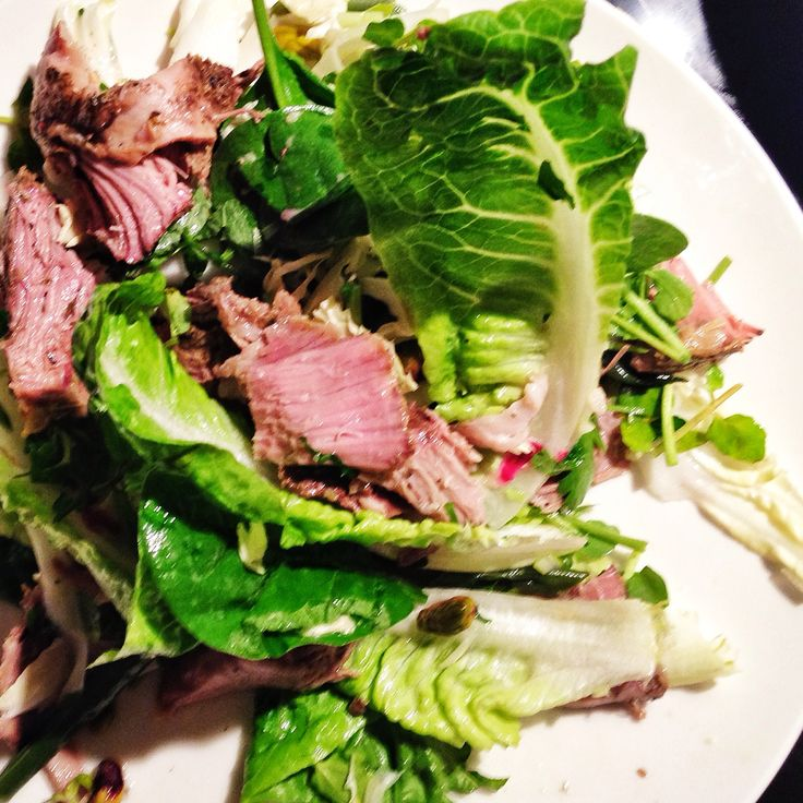 Lamb salad made from this Time Saver Sunday Roast Lamb recipe. Simple, and impressive - especially when you can go out while it cooks! http://www.eatraiselove.com/eat/time-saver-sunday-roast-lamb/