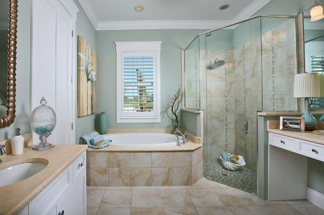 25 awesome beach style bathroom design ideas beach for Vogue living bathroom ideas