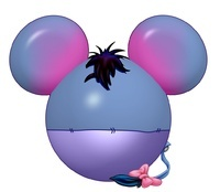 Mickey head Character images: Eeyore plus tons more! Make iron on t-shirt transfers.