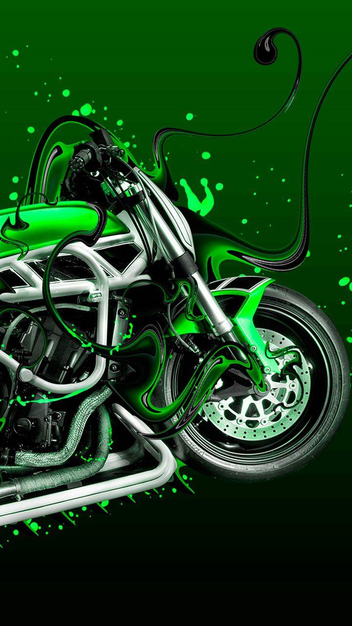 Harley Bike Lovers This Is For You Bike Art With Street Graffiti Style Chrome Finish Super Bike Fast And Furious Bike Green Bike Harley Bikes Super Bikes