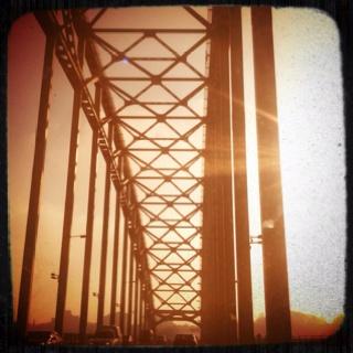 Bridge over the 'Waal' river