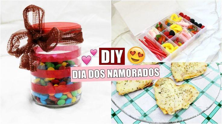 DIY's Dia dos Namorados | Caixa Fini, Pote M&M's e Pizza de coração - #E...