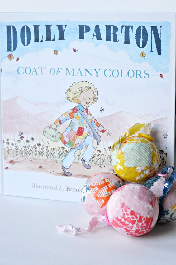 diy patchwork ornaments based off the book coat of many colors by dolly parton these ornaments are sure to look bright and cheery on the tree - Dolly Parton Coat Of Many Colors Book