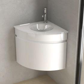 Lave Main Faible Profondeur 40x20 Cm Matiere Composite Mineral Lave Main Angle Vasque En Verre Lave Main