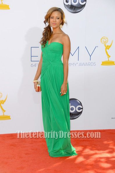 ed3fe12a130 Heather Hemmens Green One Shoulder Prom Dress Emmys 2012 in 2019 ...