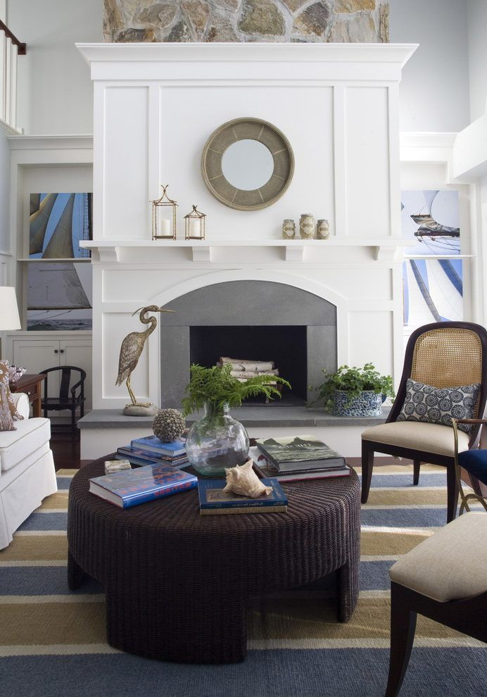 bluestone fireplace living room contemporary with traditional ...