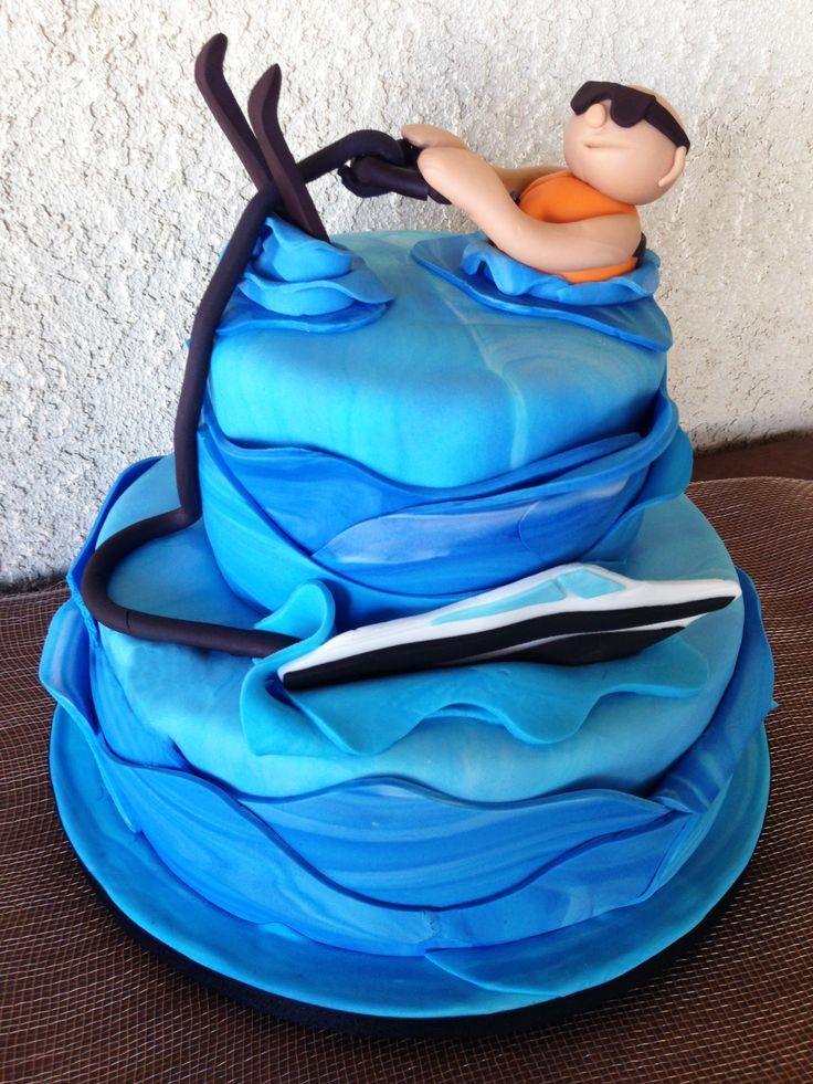 Water Ski Cake by www.allthatfrost.com