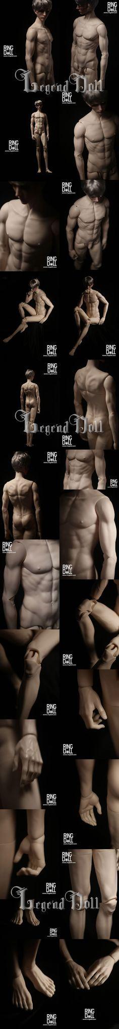 BJD 70cm Male Muscle Body RGMbody-3 Ball-jointed doll_RING DOLL_DOll body maker_DOLL BODY_Ball Jointed Dolls (BJD) company-Legenddoll