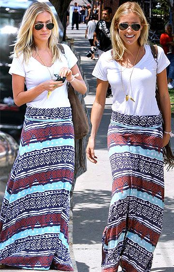 skirt and t-shirt basic but cool travel outfits