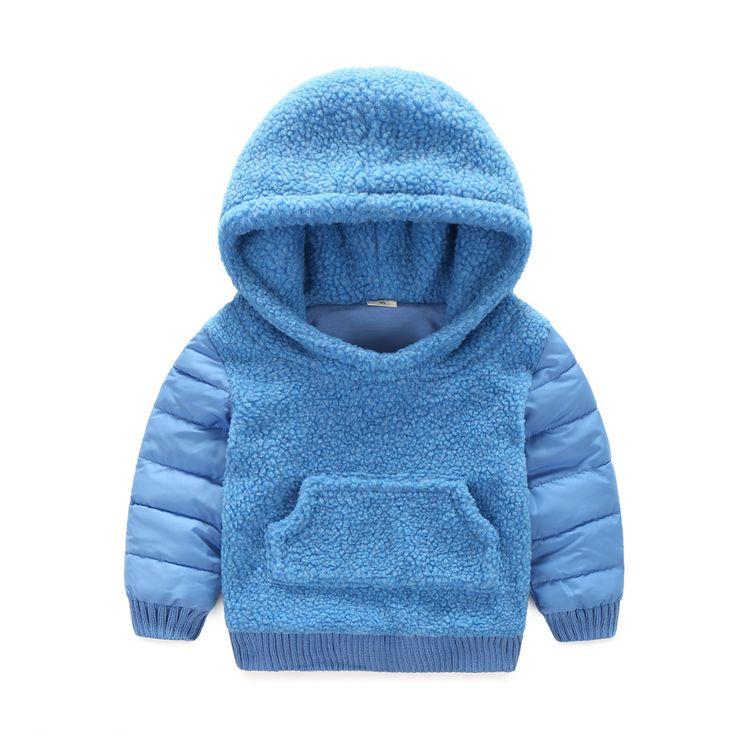 Children Outerwear Coats Boys  Lamb fur Coat Thick Warm Kids Jacket + Vest 2 Pieces Set Winter girls Down & Parkas